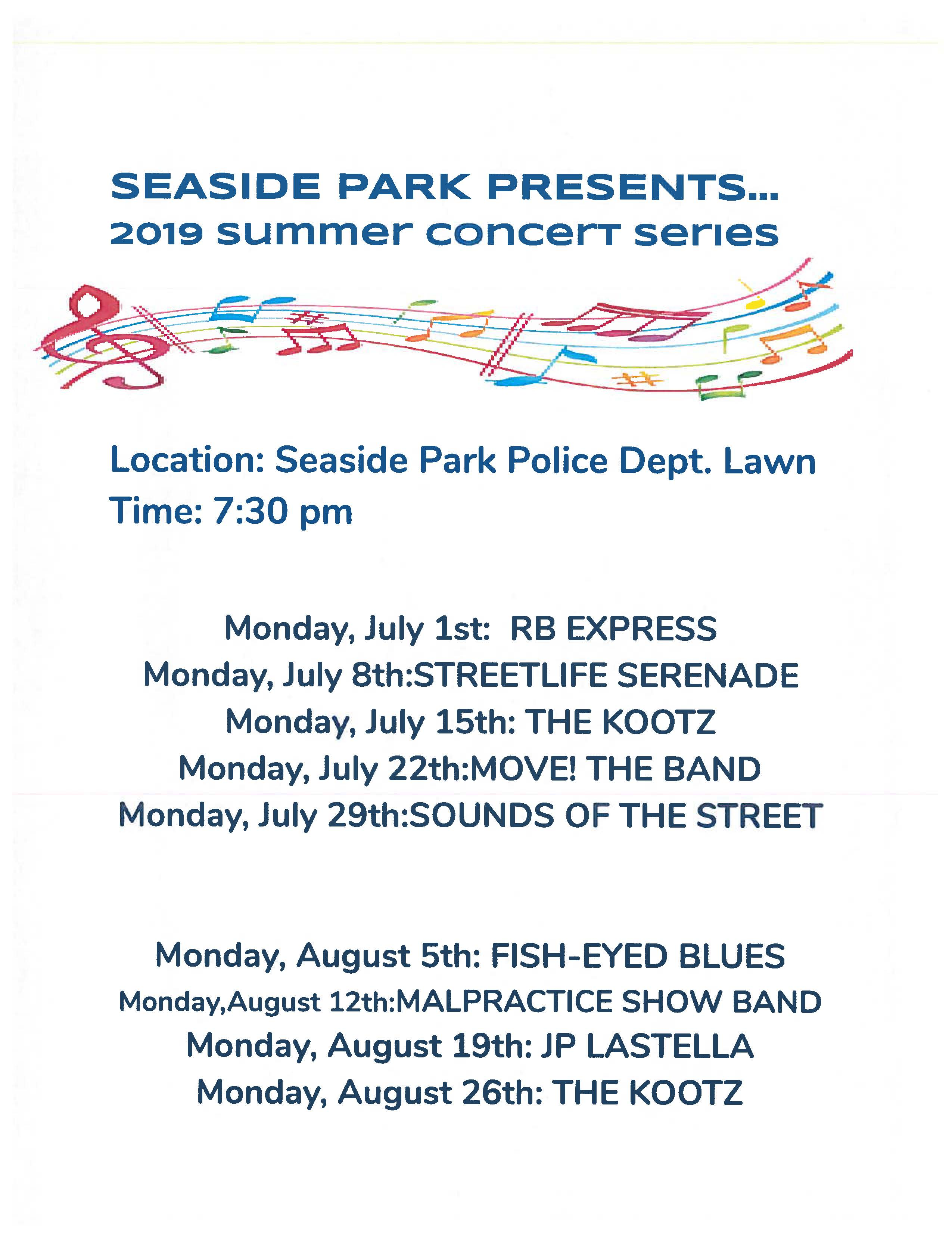 Recreation Events « Borough of Seaside Park, Ocean County, New Jersey