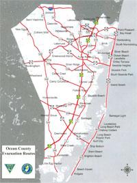 Ocean County Evacuation Routes